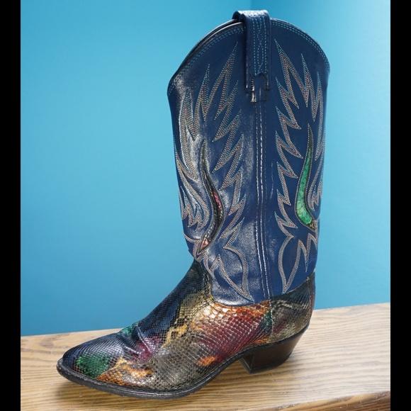 58d5c94ad61 Dan Post Shoes - Dan Post Multi-Color Snakeskin Python Cowboy Boots